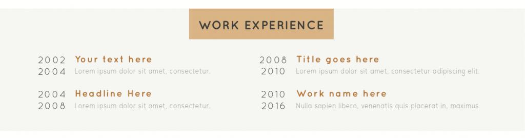 Doświadczenie zawodowe w CV
