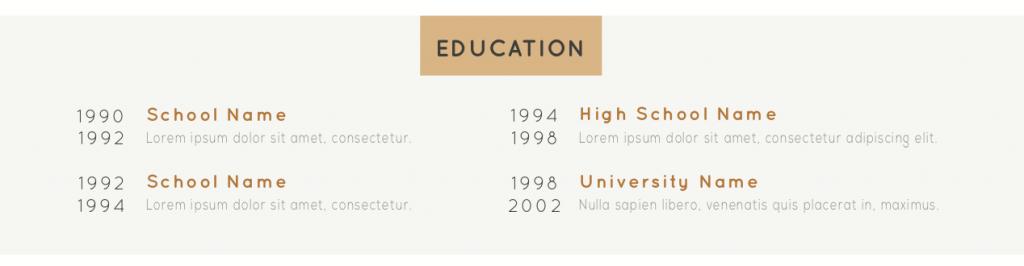 Edukacja w CV