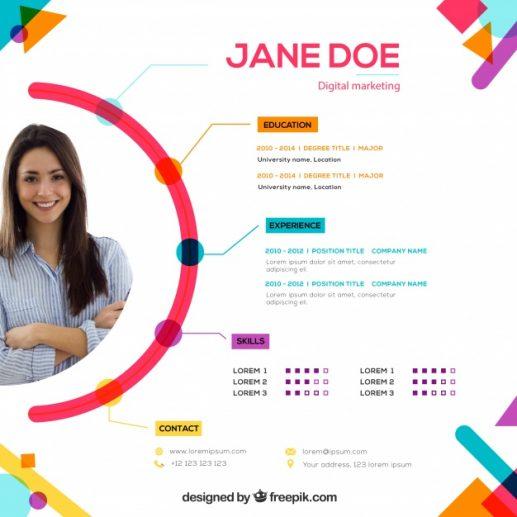 Przykład kreatywne CV