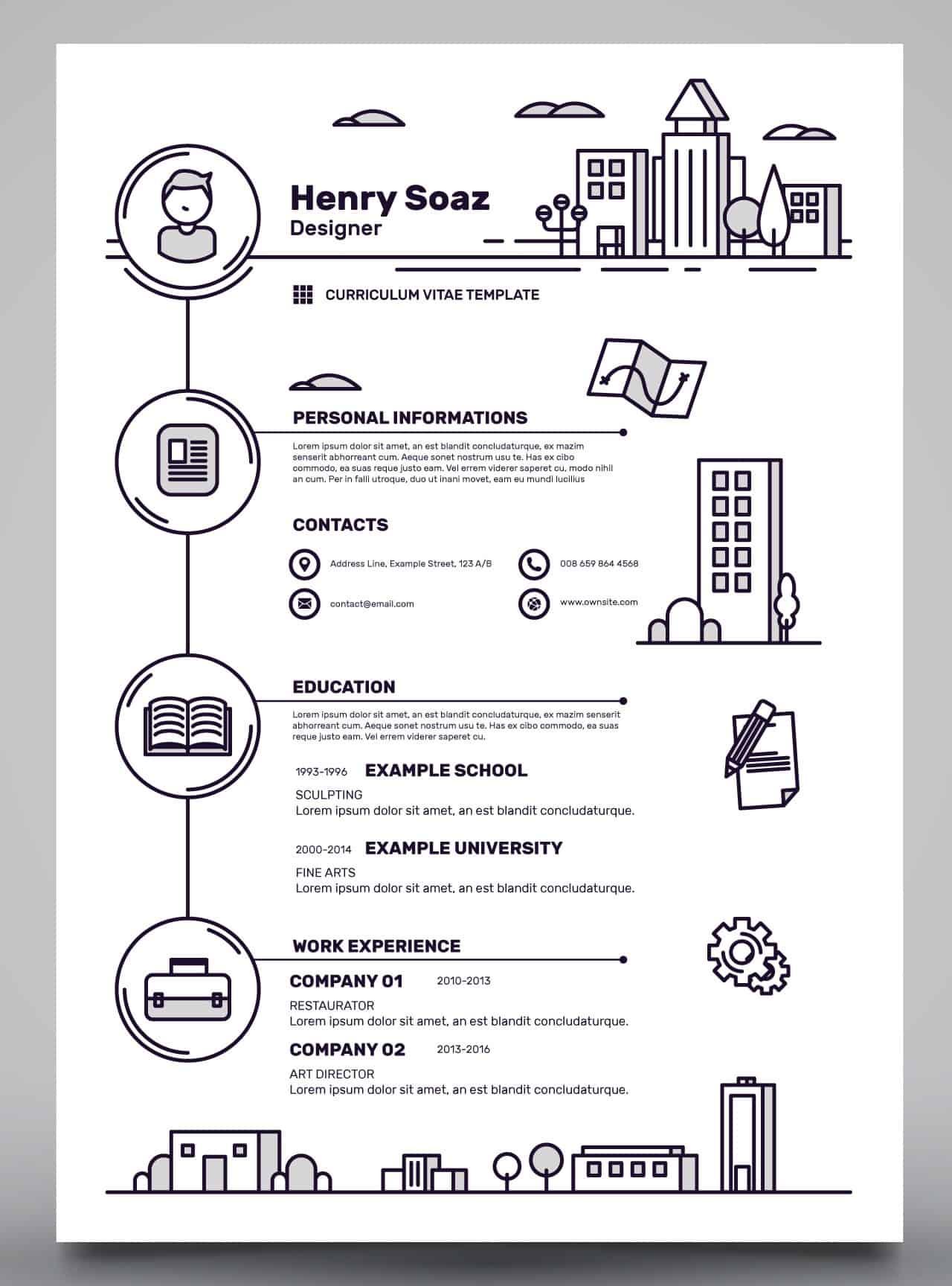 Odważne CV dla osoby kreatywnej