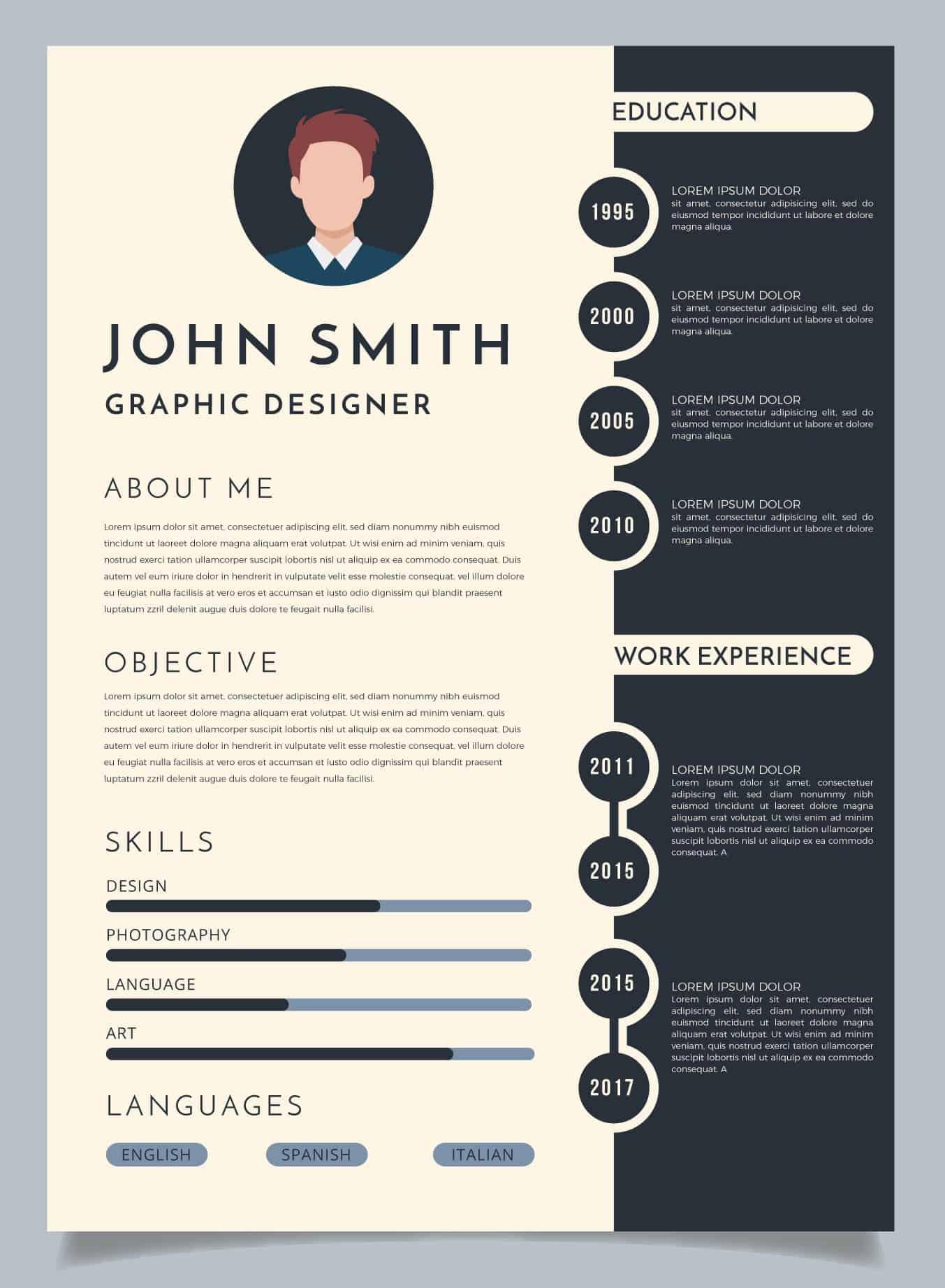 Graficzne CV. Profesjonalny wzór dla branży prawniczej.