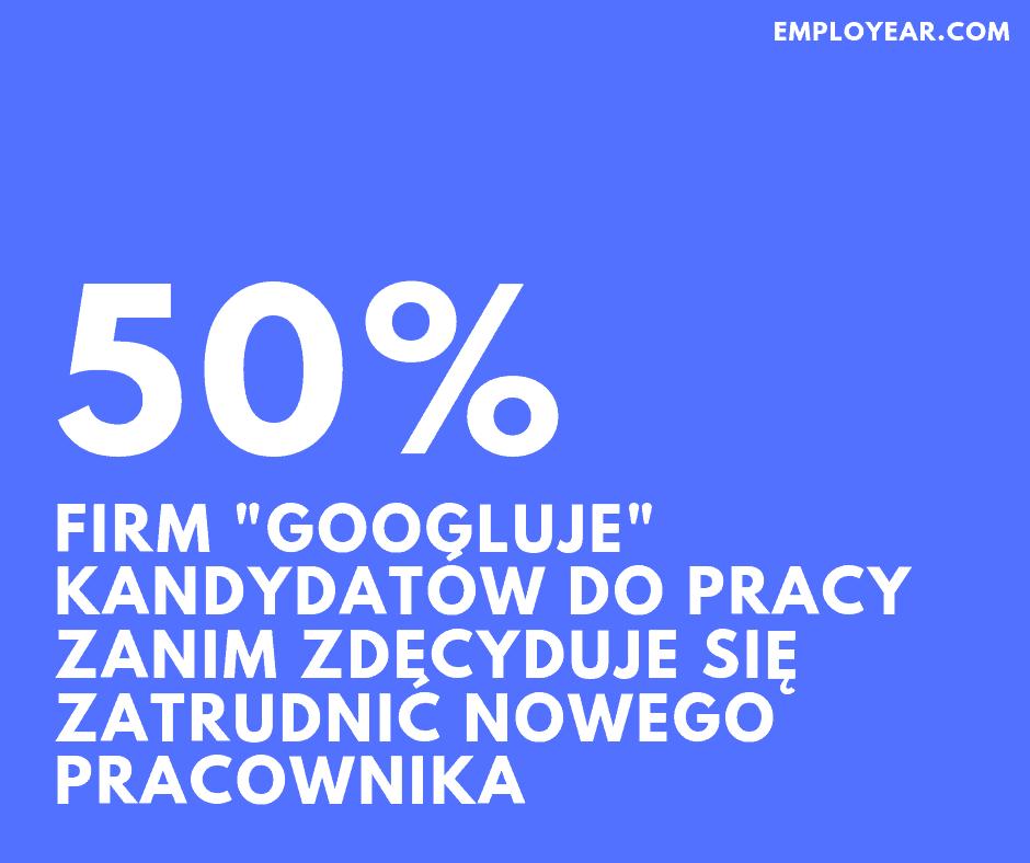 Co druga firma googluje kandydatów do pracy