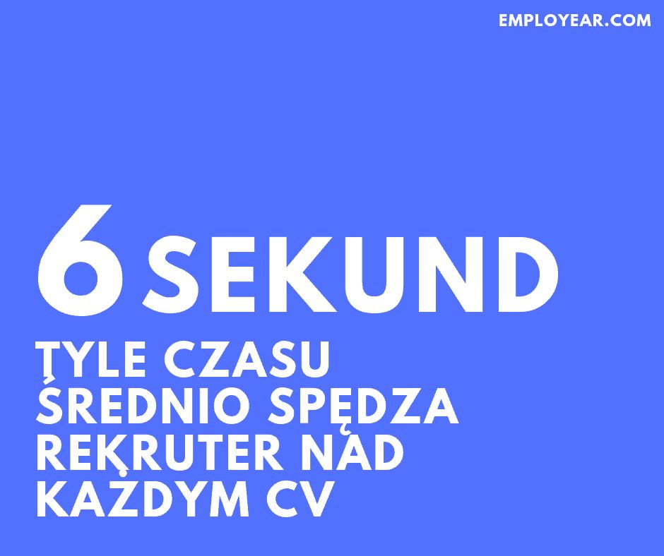 Rekruter spędza średnio 6 sekund nad każdym CV